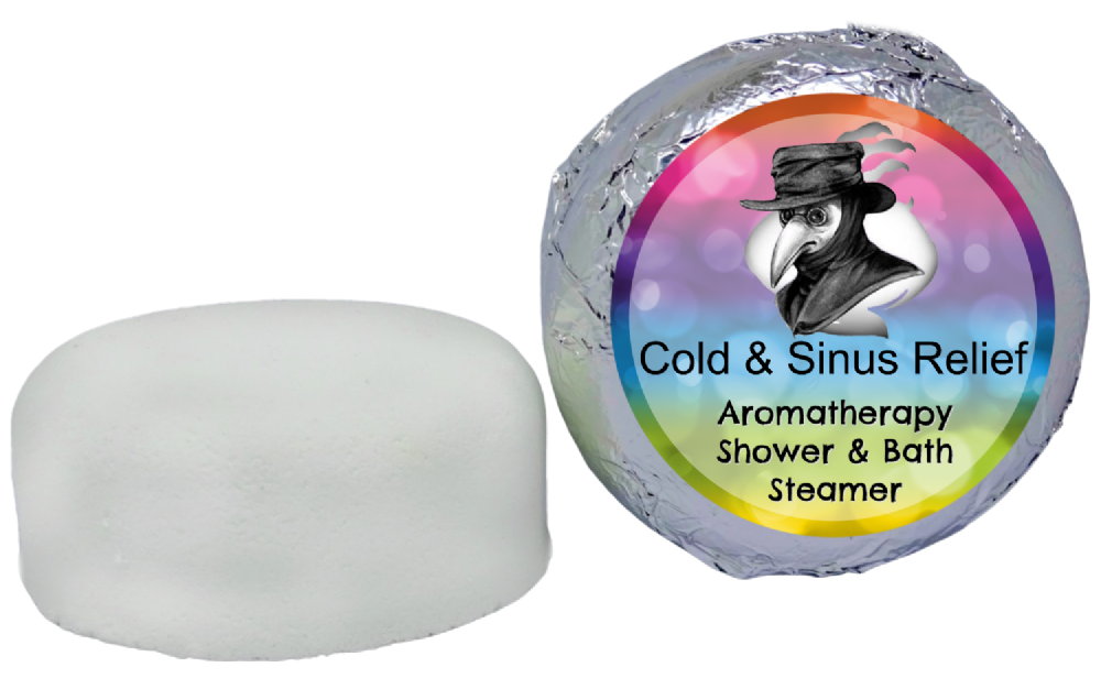 Cold & Sinus (Anti-Bacterial Anti-Viral) Aromatherapy Shower & Bath Steamer VEGAN
